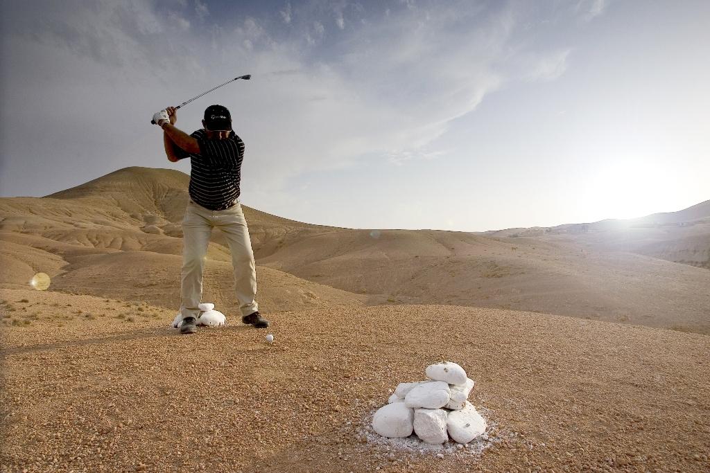 Desert-golf in Morocco