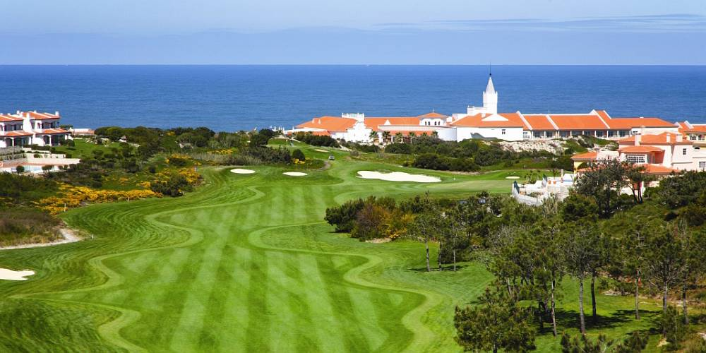 Aerial view of Praia Del Rey golf resort