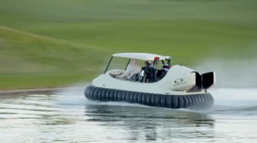 Bubba Watson's golf hovercraft