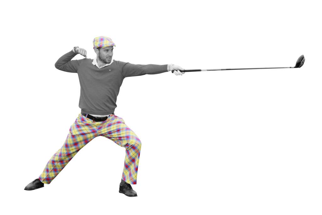 Royal and Awesome golf pants