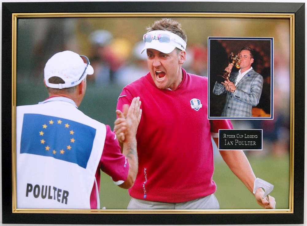 Ian Poulter signed photo golf memorabilia Medinah
