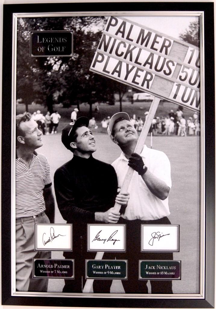 golf memorabilia from Premium Hospitality