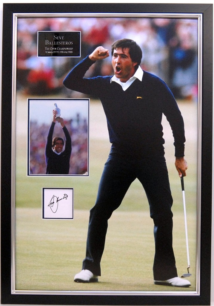 Seve golf memorabilia