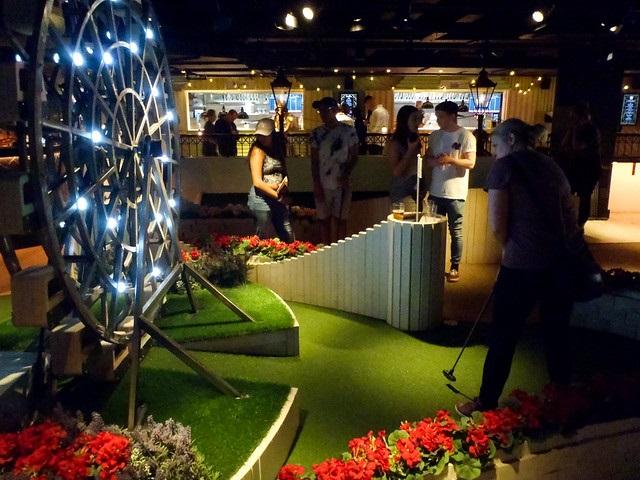 Swingers indoor golf venue in Oxford Circus London