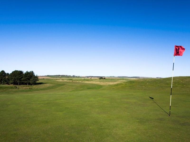 1st green at Goswick Golf Club