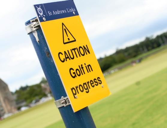 Golf in progress at Azerbaijan