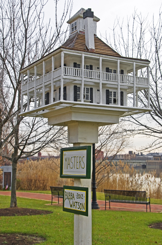 A bird house built in honour of Bubba Watson after his 2012 Masters Win - photo Ron Cogswell