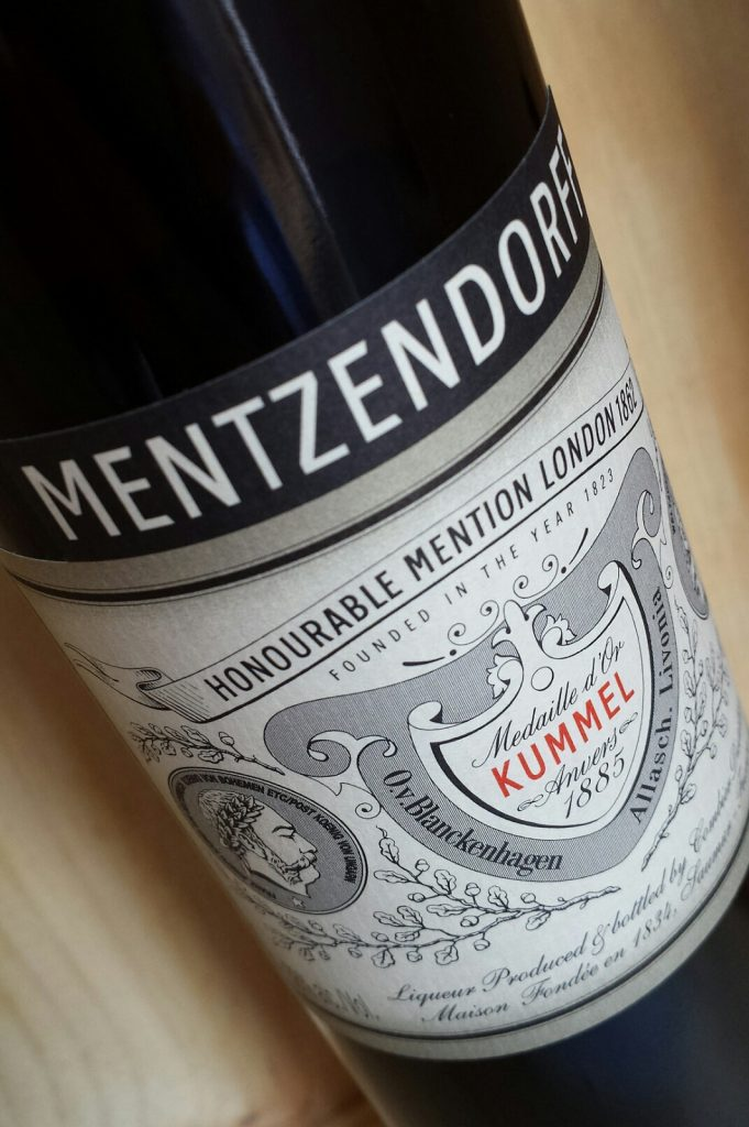 A bottle of Kummel