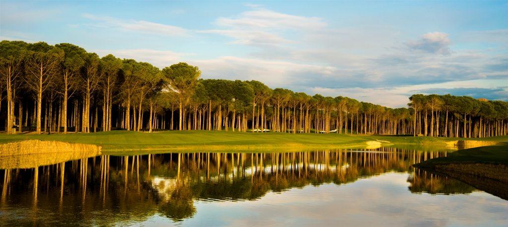 Beautiful golf hole at The Regnum Carya Resort Turkey