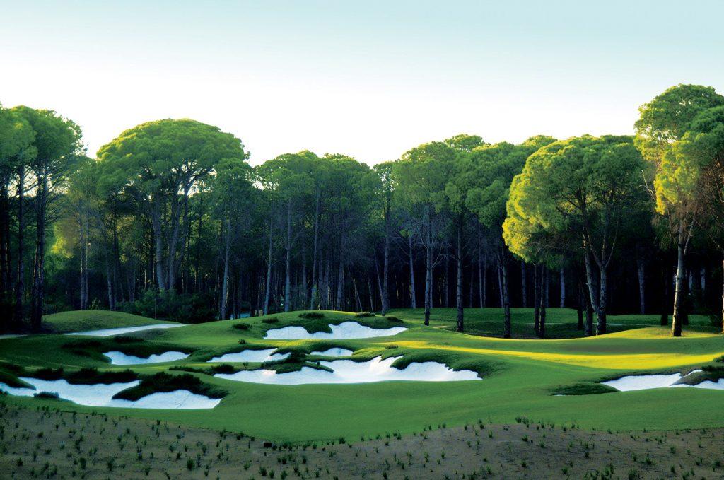 Beautiful golf hole at Carya Golf Club, Regnum Carya Resort, Turkey